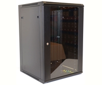 18U Wall Mount Equipment Cabinet, Glazed Door, Single 600x450mm