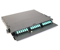 "1U 19"" Patch Panel for 3 LGX Adapter Plates"