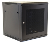 12U Wall Mount Equipment Cabinet, Mesh Door, Single 600x450mm