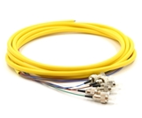 3m, 6 Fiber FC Pigtail, Single-mode, OS2