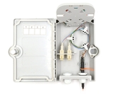 4 Fiber, Wall Mount Termination Box, 2 Ports