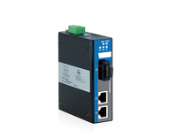 3-port Full Gigabit Unmanaged Industrial Fiber Transceiver Media Converter