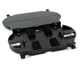 12 Fiber, Black Fusion Splice Tray 177.8x114.3x19.05mm