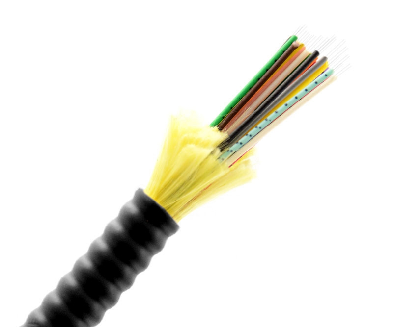 24 Fiber Armored Indoor  Outdoor Cable Multimode OFNP