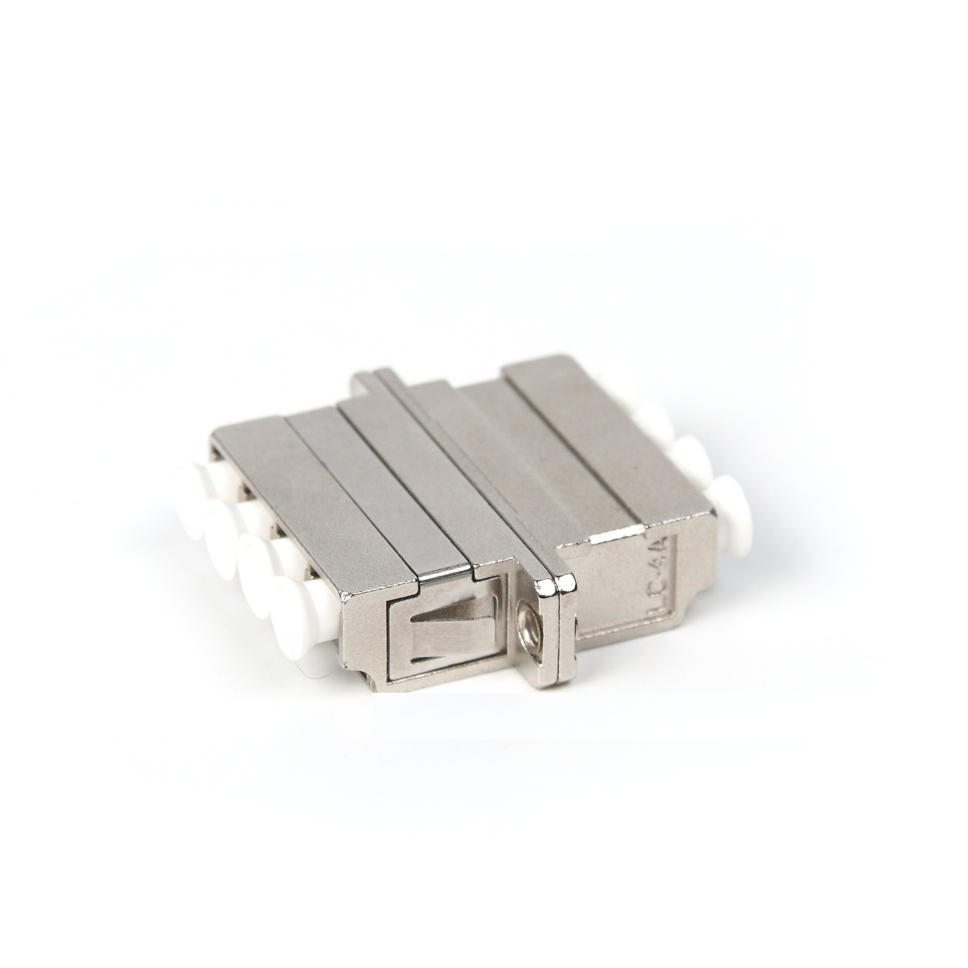 LC Quadruplex Metal Body Fiber Optic Adapter