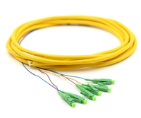 3m, 6 Fiber LC/APC Pigtail, Single-mode, OS2