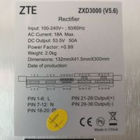 ZTE ZXD3000 V5.0/V5.6 48V 3000W Silicon Controlled Rectifier Module