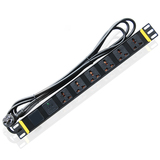 6 Universal Jacks 10A Input SPD Lightning Protection PDU