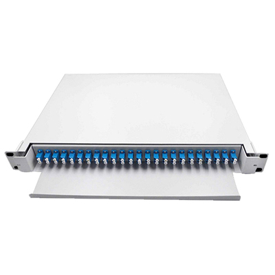 24 Port Preloaded Patch Panel White ODF LC Duplex Adapter