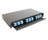 "1U 19"" Patch Panel for 3 F-Type Adapter Plates"